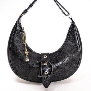 DIOR Leather Trotter Crescent Half Moon Bag